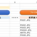 指定したフォルダのファイル名を取得し、そのファイル名を一括で変換(Excel VBA)